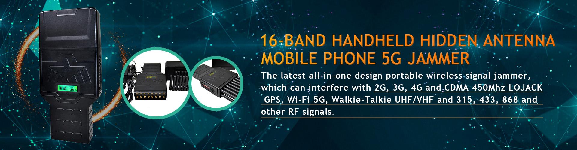 16 Antennas Signal Jammer