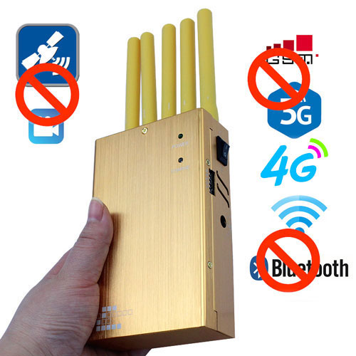 High Quality Portable GSM 3G GPS WiFi Bluetooth Jammer Cell Phone Jammer