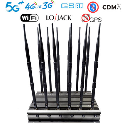 New powerful mobile phone WIFI GPS LOJACK UHF VHF signal jammer