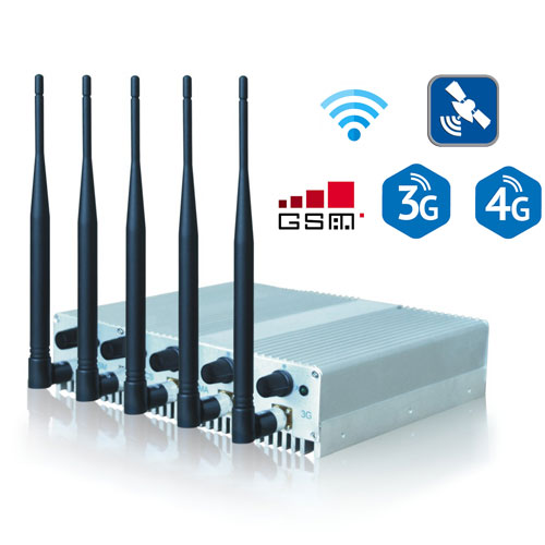 5 Bands Desktop Jammers for GSM 3G 4G WIFI GPS Frequecncies Adjustable