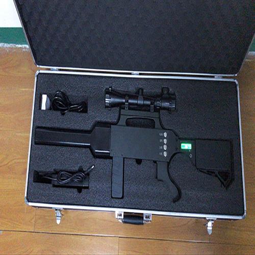 Built-in battery portable drone interceptor rifle jammer