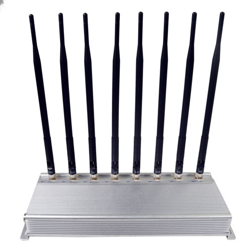 The 8 antennas cell phone signal jammer Adjustable 3G 4G phone signal blocker with WIFI2.4G GPS