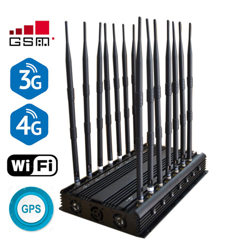 High Power Powerful 14 Antenna Jammer Mobile Phone Lojack GPS WiFi VHF UHF Jammer