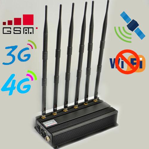 Desktop WiFi Cellular Phone Jammers Anti GPS Tracking Blocker
