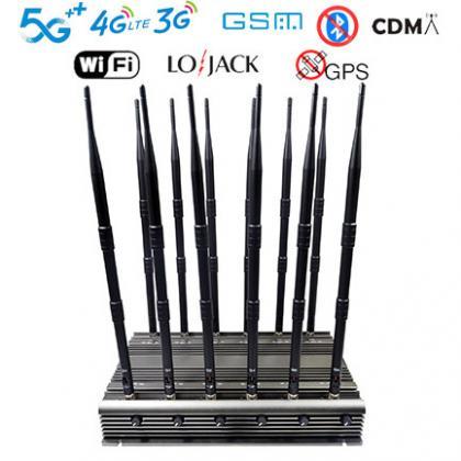 New powerful mobile phone WIFI GPS LOJACK UHF VHF signal jammer