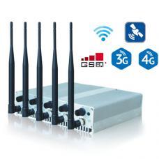 5 Bands Desktop Jammers for GSM 3G 4G WIFI GPS Frequecncies Adjustable